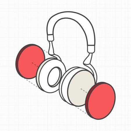 例示ヘッドフォン デジタル創造的なグラフィック