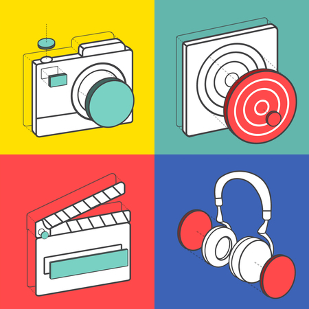 Set of illustration icons Ilustracja