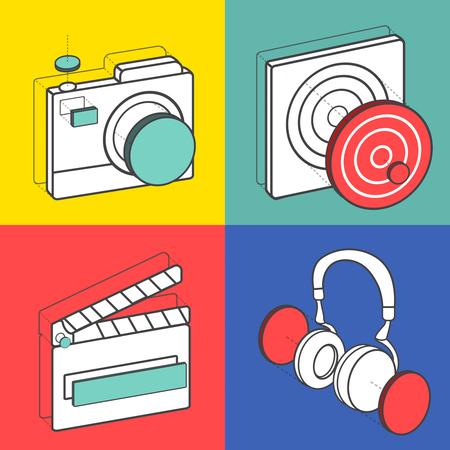 Set van illustratie iconen