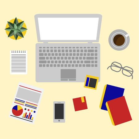 Office equipment vector Illustration