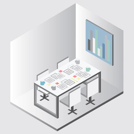 Office equipment vector Çizim
