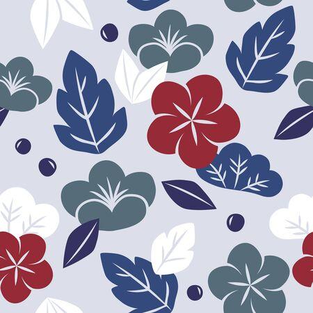 원활한 일본식 플로랄 패턴의 벡터