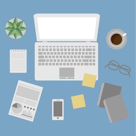 Office equipment vector Ilustração