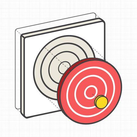 Doel dartbord digitale creatieve grafiek
