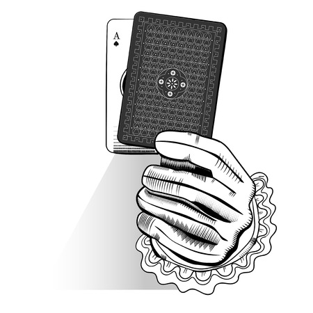 Vector of hand holding random playing card Stok Fotoğraf - 85862747