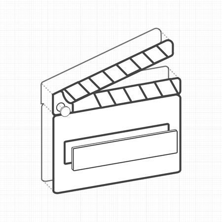 イラスト映画スレートクリエイティブデジタルグラフィック  イラスト・ベクター素材
