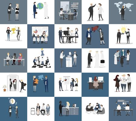 Vector verzameling van mensen uit het bedrijfsleven Vector Illustratie