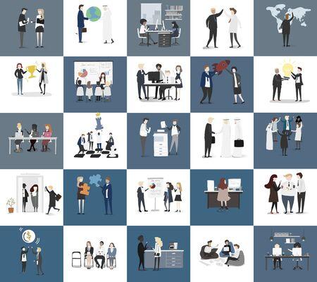 Wektor kolekcji ludzi biznesu Ilustracje wektorowe