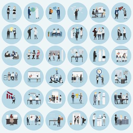 vector collection de gens d & # 39 ; affaires