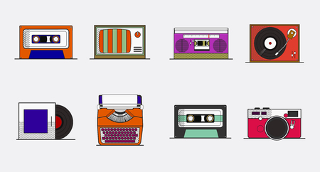Old school device vector Illustration