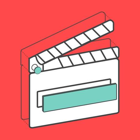 일러스트 레이 티드 영화 슬레이트 디지털 그래픽