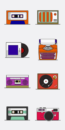Old school device vector Çizim