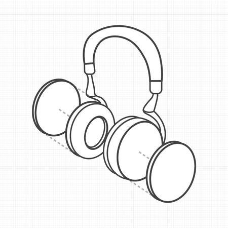 Illustrative headphone digital creative graphic Illusztráció