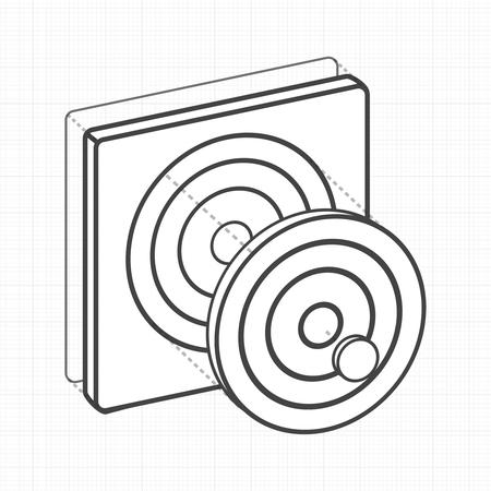 目標ダーツボードデジタルクリエイティブグラフィック  イラスト・ベクター素材
