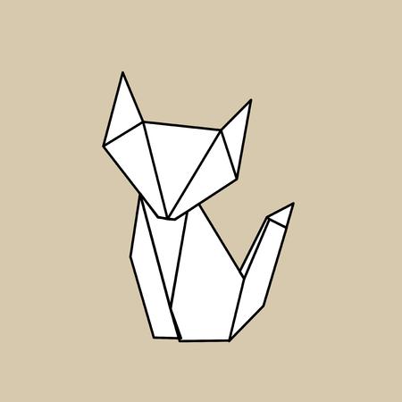 動物の折り紙ベクトル