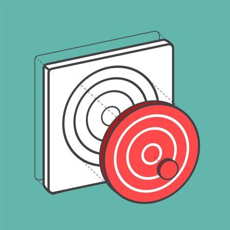 Target dartboard digital creative graphic Ilustracja