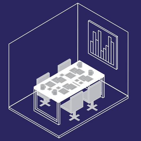 Office equipment vector Illustration