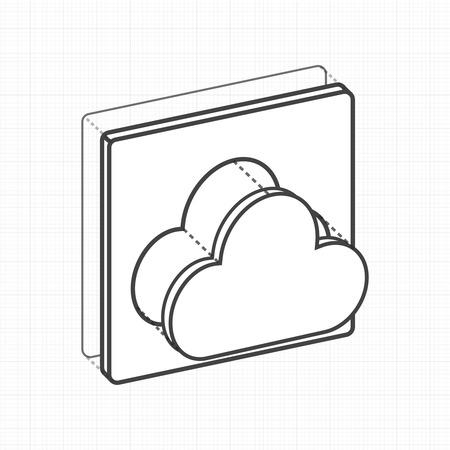 Stockage numérique de stockage de données informatique de stockage Banque d'images - 85969075
