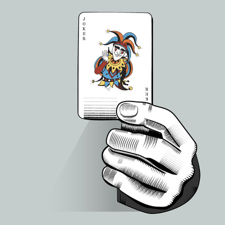 Vector of hand holding random playing card 向量圖像