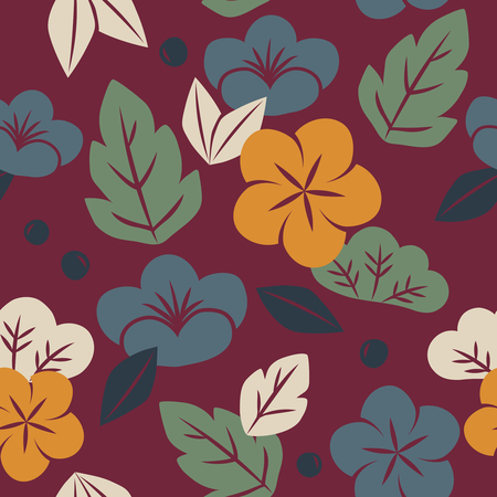 a Vector of seamless floral pattern. Stok Fotoğraf - 85821020