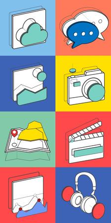 Illustratie van recreatie pictogrammen.