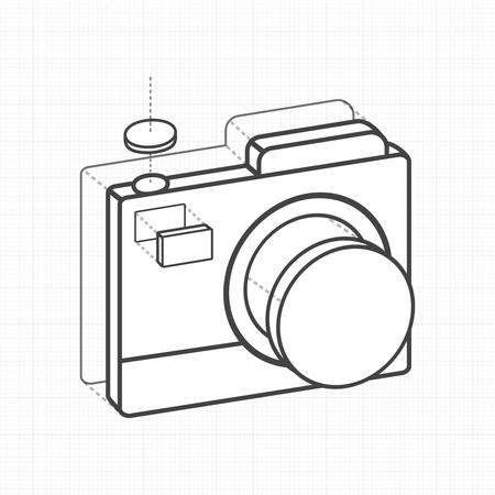 일러스트레이션 카메라 크리 에이 티브 디지털 그래픽.