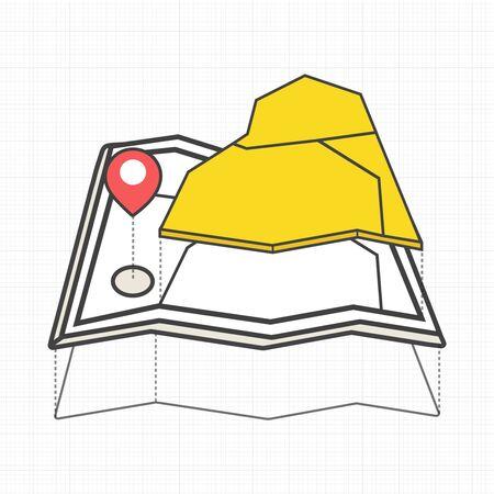 Ilustración del mapa. Foto de archivo - 85821034