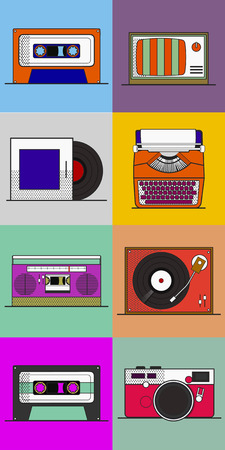 Old school apparaat vector Stock Illustratie