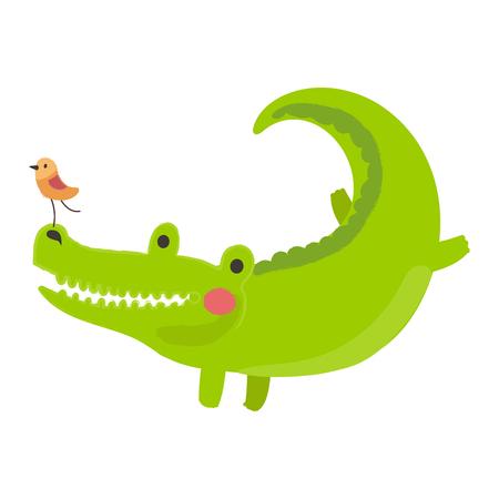 야생 동물 - 악어의 그림 스타일입니다. 일러스트