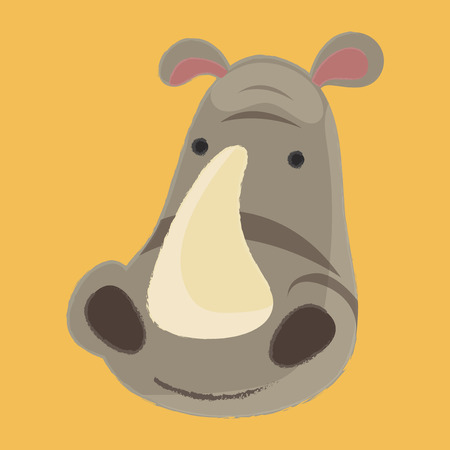 Illustration style of wildlife - Rhinoceros 版權商用圖片 - 86108823