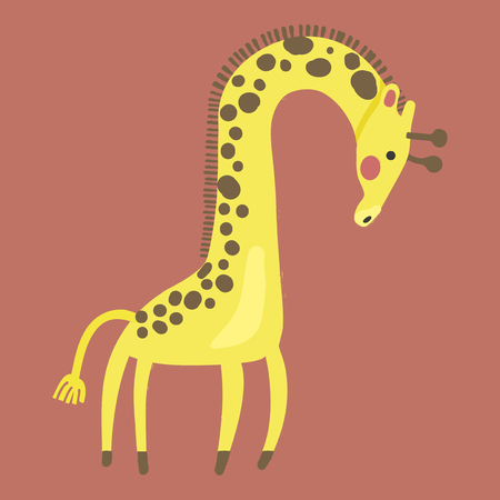 Illustration style of wildlife - Giraffe 版權商用圖片 - 86108824