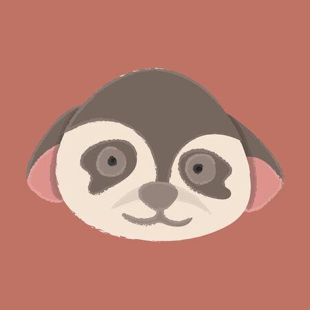 Illustration style of wildlife - Monkey 向量圖像