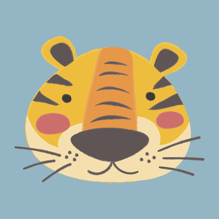 Illustration style of wildlife - Tiger 向量圖像