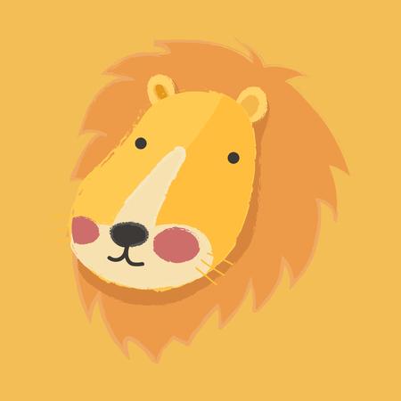 Illustration style of wildlife - Lion