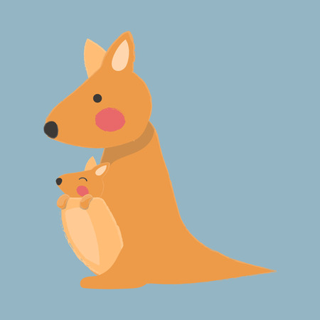 Illustration style of wildlife - Kangaroo