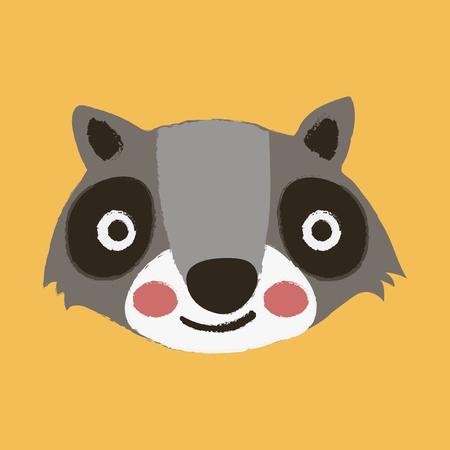 Illustration style of wildlife Raccoon