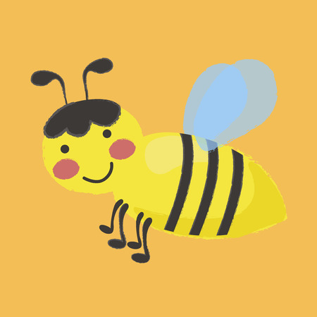 Illustration style of Honey Bee