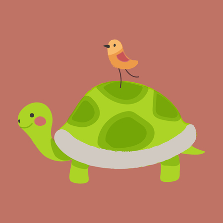 Illustration style of wildlife - Tortoise