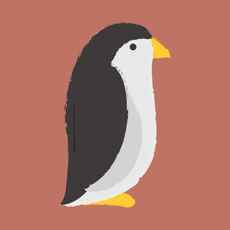 Illustration style of wildlife Penguin