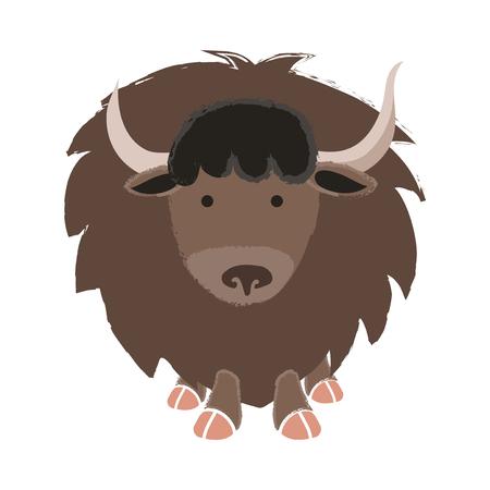 Illustration de la faune Yak Banque d'images - 86108851