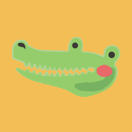 Illustration style of wildlife Alligator