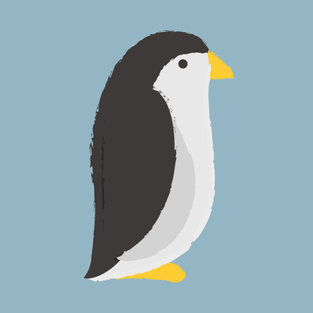 Illustration style of a Penguin Ilustracja