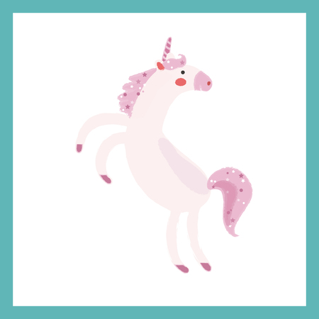 Illustration style of mythical beast - Unicorn Иллюстрация