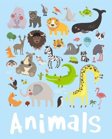 Illustration set of animals 版權商用圖片 - 86108894