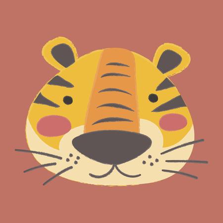 Illustratiestijl van dieren in het wild - Tiger