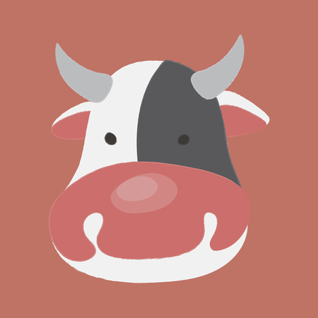 Illustration of animal - Cow 向量圖像