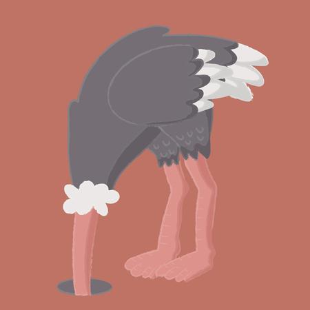 Illustratiestijl van het wild - Struisvogel