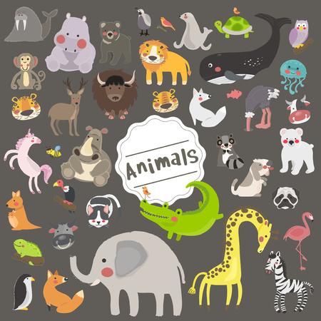 Illustration style of animals 版權商用圖片 - 86108908
