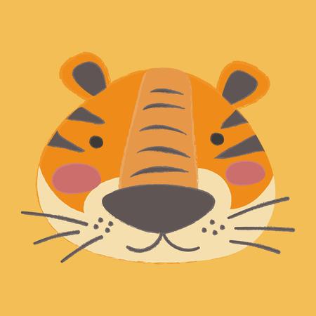 Illustration style of wildlife - Tiger Çizim