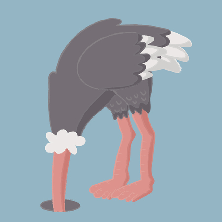 Illustration style of wildlife ostrich